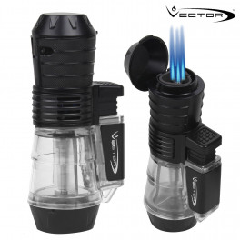 Vector Tri-Force Triple-Flame Torch Lighter